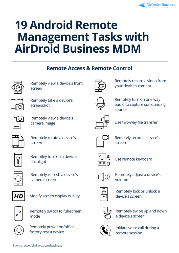 19 android remote device management tasks with airdroid business mdm