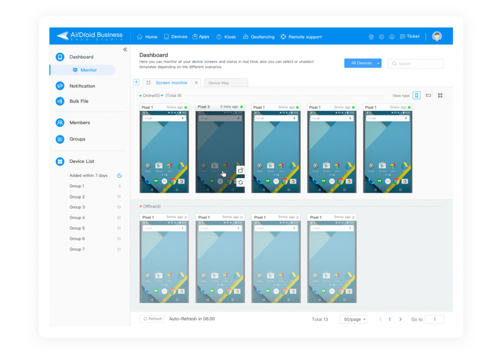 android remote access and monitor devices
