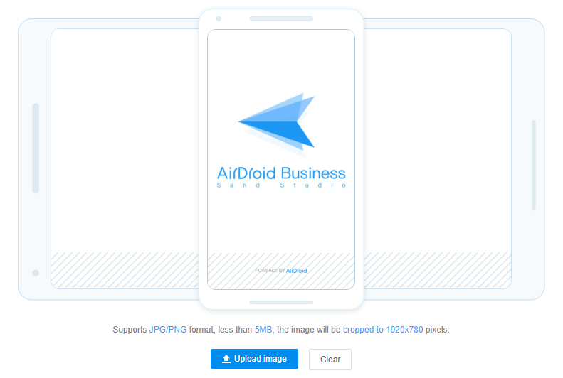airdroid business app screen display setting