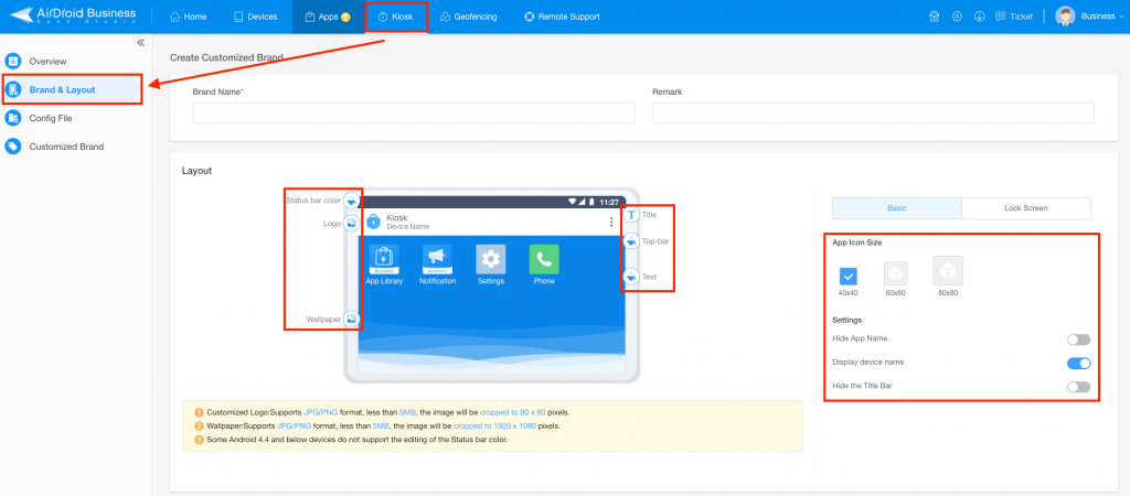 android kiosk mode airdroid business