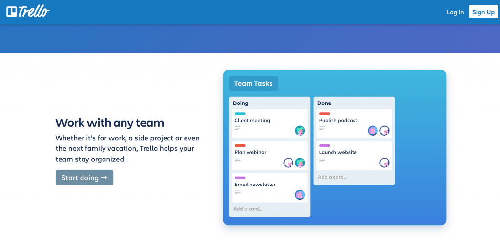 trello project management productivity tool