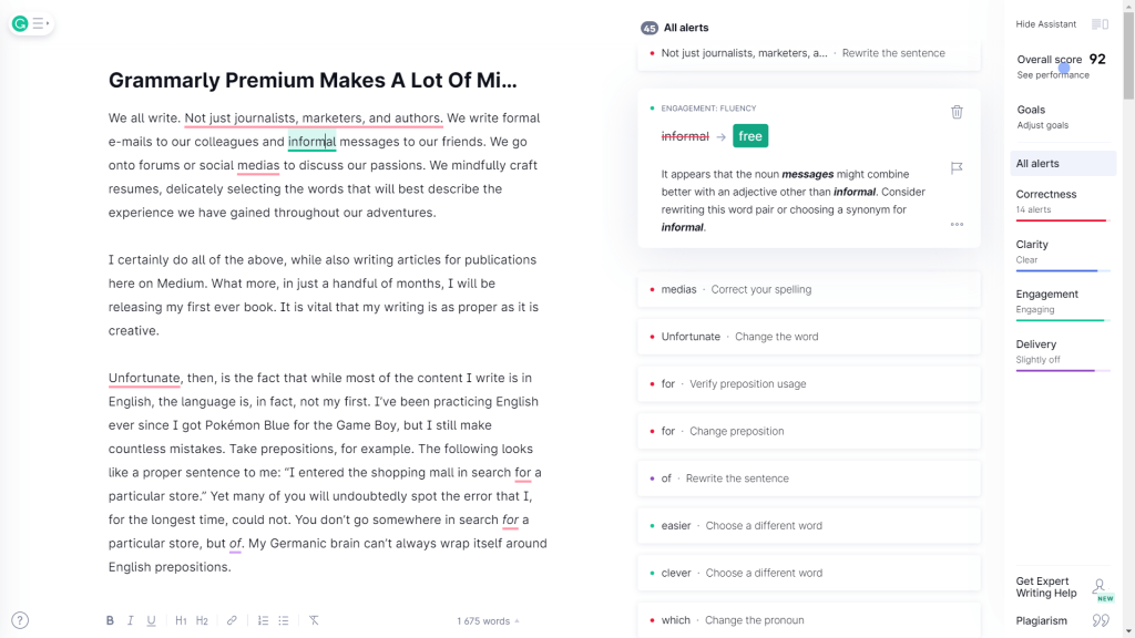 grammarly for spelling grammar and punctuation