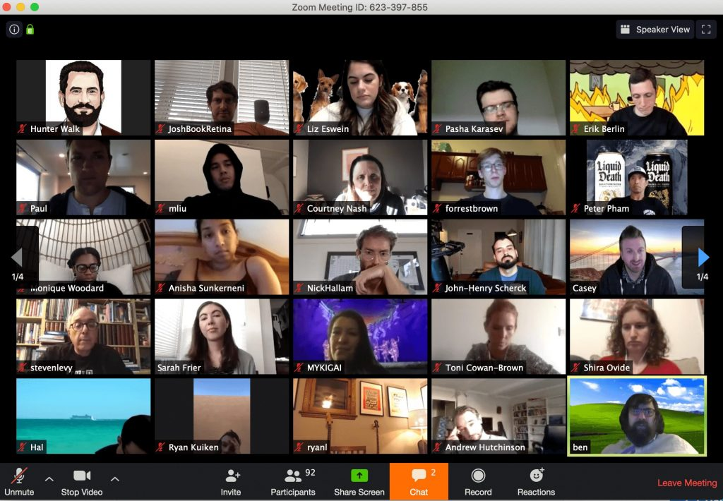 zoom for video conferencing remote work