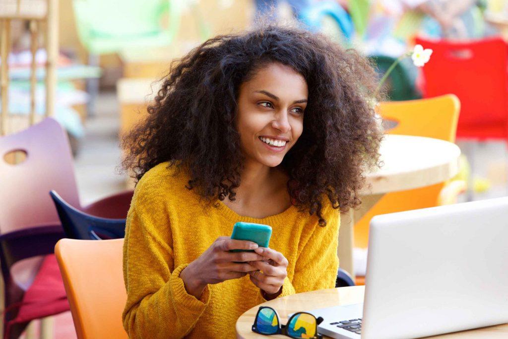 female mobile user