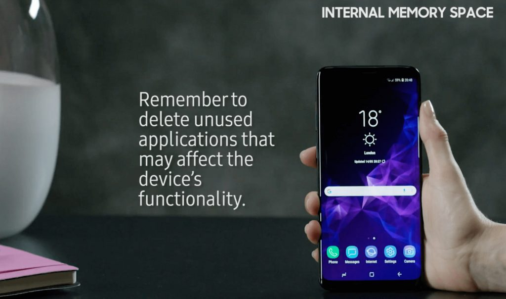 how to free up internal storage with Samsung device