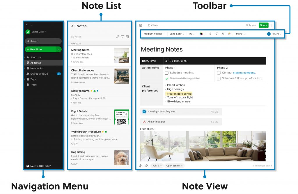8 Essential Tools for SMBs To Improve Productivity - evernote