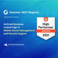 Airdroid business got featured in G2 2021 grid reports