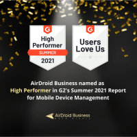 g2 crowd high performer badge - airdroid business