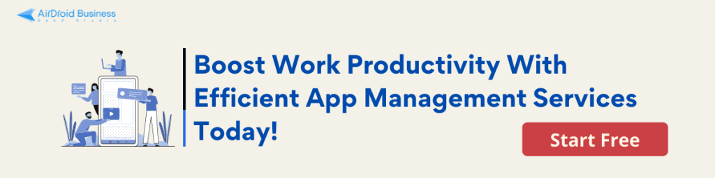 AirDroid Business MDM Solution for app management Free Trial Banner