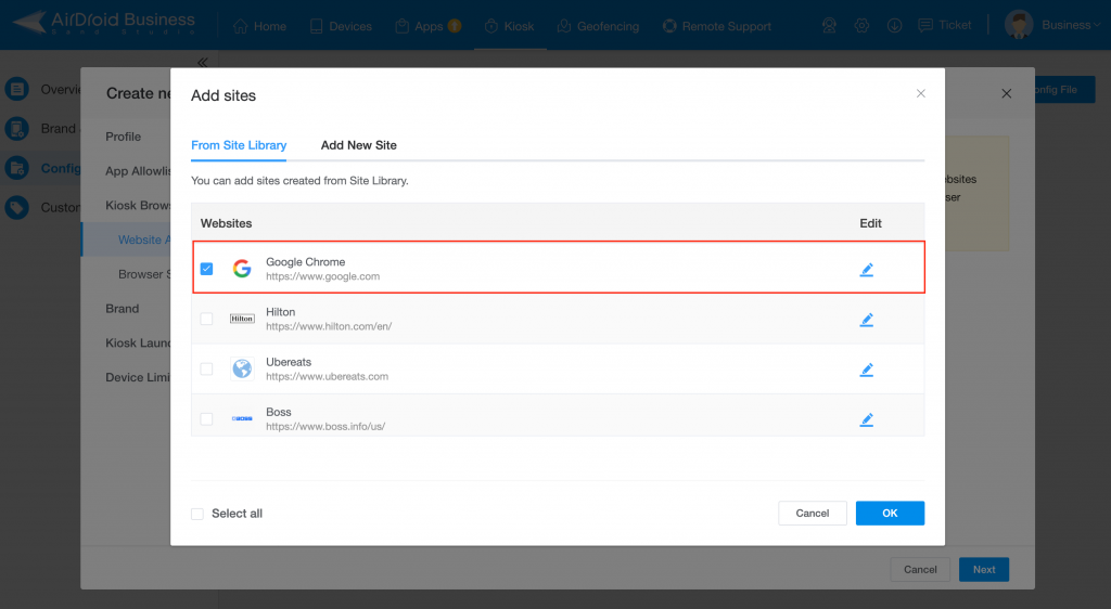 How to Whitelist Websites on Android Devices Using AirDroid Business 3