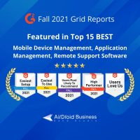 G2 fall 2021 grid reports for Mobile Device Management - AirDroid Business